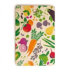 Eat Your Fruits and Veggies Rectangle Cutting Board