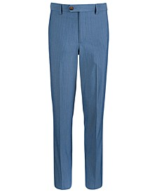 Big Boys Stretch Light Blue Stripe Suit Pants