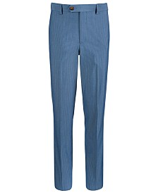 Lauren Ralph Lauren Big Boys Stretch Light Blue Stripe Suit Pants