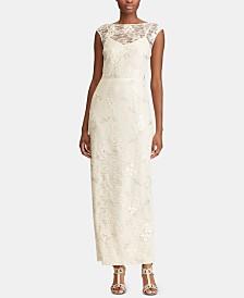 Lauren Ralph Lauren Floral Lace Gown