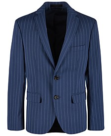 Big Boys Stretch Bright Navy Stripe Sport Coat
