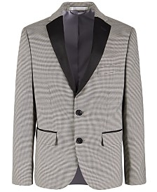 Lauren Ralph Lauren Big Boys Stretch Houndstooth Dinner Jacket