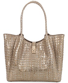 Brahmin Medium Mallory La Scala Embossed Leather Tote