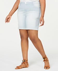 Seven7 Jeans Plus Size Weekend Denim Bermuda Shorts
