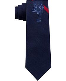 Tommy Hilfiger Men's Tiger Stripe Panel Silk Tie