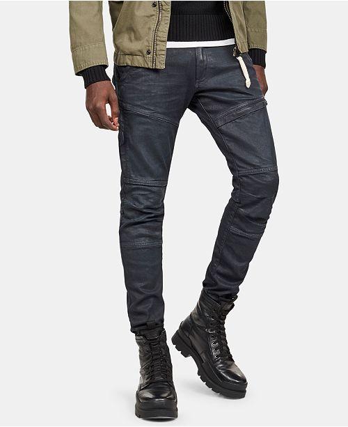 9f74b320 ... G-Star Raw Men's Rackam Dark Aged Waxed Cobbler Skinny-Fit Superstretch  Jeans ...