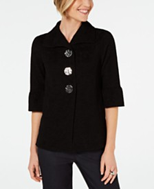 JM Collection Petite Textured Jacket, Created for Macy's