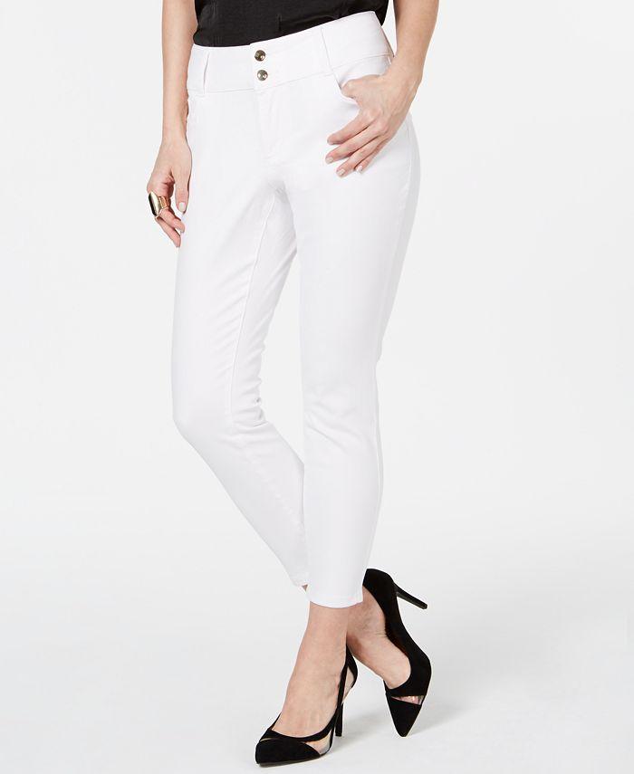 Thalia Sodi - Double-Button Skinny Ankle Jeans