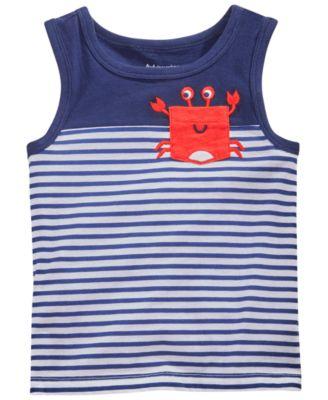 Toddler Girls Tank Top with Crab Pocket