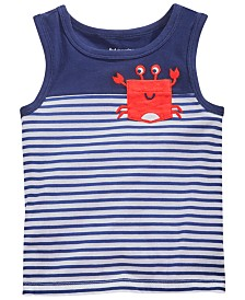 First Impressions Baby Boys Crab Graphic Cotton Tank Top, Created for Macy's