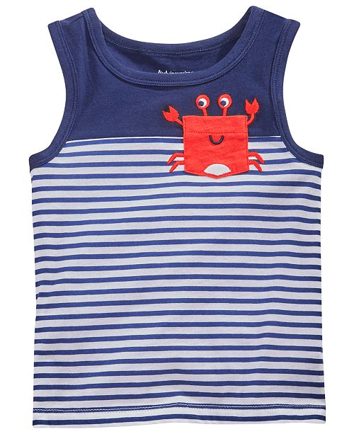 First Impressions Toddler Girls Tank Top with Crab Pocket
