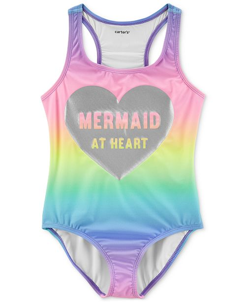 Carter's Little & Big Girls 1-Pc. Mermaid At Heart Swimsuit