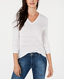 Cotton Pointelle Sweater, Created for Macy's