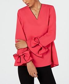 Alfani Bow-Sleeve Blouse, Created for Macy's