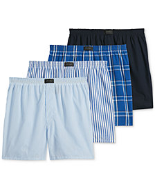 Jockey Men's 4-Pk. ActiveBlend Woven Boxers
