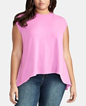 9b5b55946e8c84 RACHEL Rachel Roy Plus Size Asymmetrical Crop Top