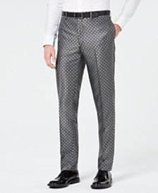 Tallia Men's Slim-Fit Medallion Jacquard Pants