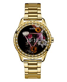 Women's Connect Gold-Tone Stainless Steel Bracelet Touchscreen Smart Watch 41mm