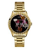 ec8558847 GUESS Women's Connect Gold-Tone Stainless Steel Bracelet Touchscreen Smart  Watch 41mm
