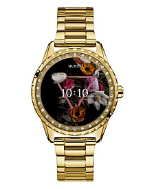 GUESS Women's Connect Gold-Tone Stainless Steel Bracelet Touchscreen Smart Watch 41mm