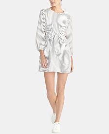 RACHEL Rachel Roy Sophia Striped Tie-Front Dress