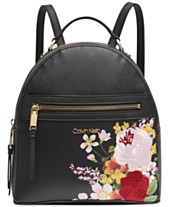 0963cee4313 Calvin Klein Mercy Floral Leather Backpack