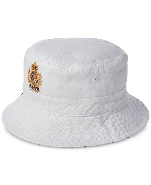 ebfd34e4e62 Polo Ralph Lauren Men s Reversible Crested Polo Bear Bucket Hat ...