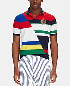 Polo Ralph Lauren Men's Classic-Fit Striped Mesh Polo Shirt