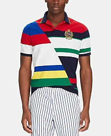 Polo Ralph Lauren Men's Classic-Fit Striped Mesh Polo Shirt