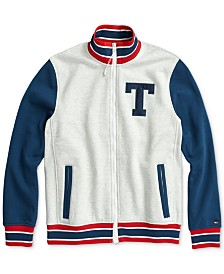 Tommy Hilfiger Adaptive Men's Logo Track Jacket with Magnetic Zipper