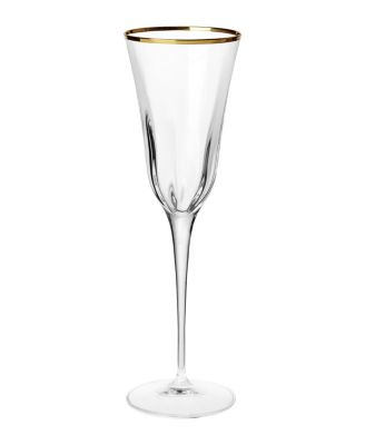 Optical Gold Champagne Flute