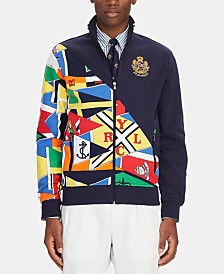 Polo Ralph Lauren Men's Nautical Flag Double-Knit Track Jacket