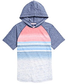 Big Boys Roman Colorblocked Stripe Hooded T-Shirt