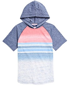 Univibe Big Boys Roman Colorblocked Stripe Hooded T-Shirt