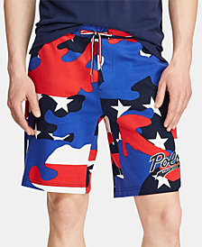 Polo Ralph Lauren Men's Camo Logo Double-Knit Americana Shorts, Created for Macy's