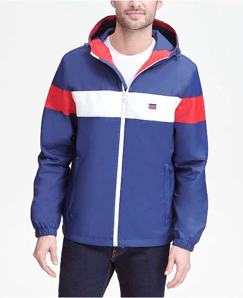 Levi's Men's Water-Resistant Colorblocked Rain Jacket