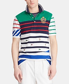 Polo Ralph Lauren Men's Classic-Fit Embroidered Crest Mesh Polo Shirt