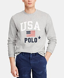Men's Fleece Graphic  Americana Crewneck Sweatshirt