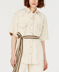 Short-Sleeve Cotton Jacket