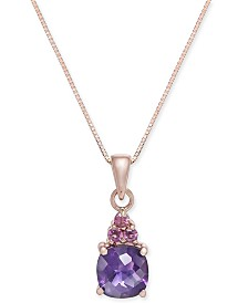"Amethyst (1-5/8 ct. t.w.) 18"" Pendant Necklace in 14k Rose Gold"