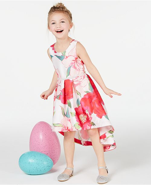Speechless Toddler Girls Floral-Print Satin Dress