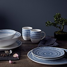 Crafted by Royal Doulton Cobalt Blue Chevron Dinnerware Collection