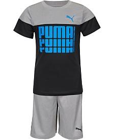Puma Toddler Boys 2-Pc. Performance T-Shirt & Shorts Set