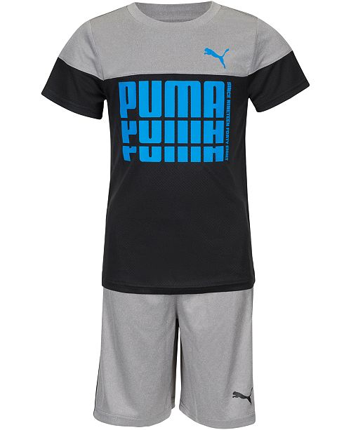 Puma Toddler Boys 2-Pc. Performance T-Shirt & Shorts Set