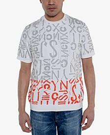 Men's Regular-Fit Logo Graphic Short-Sleeve Sweater