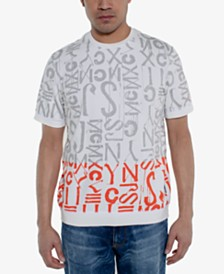 Sean John Men's Regular-Fit Logo Graphic Short-Sleeve Sweater