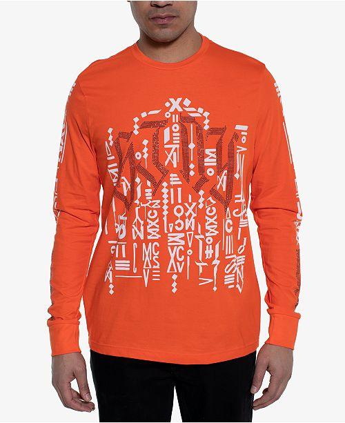 Sean John Men's Anti Squad Studded Logo Graphic T-Shirt