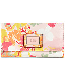 GUESS Shannon Floral Slim Clutch Wallet