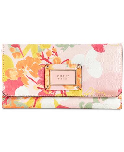 GUESS Shannon Floral Slim Clutch Wallet