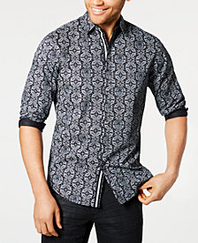 I.N.C. Men's Paisley Skull Shirt, Created for Macy's